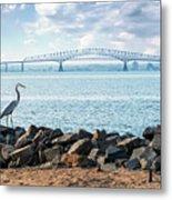 Key Bridge From Ft Smallwood Pk Metal Print