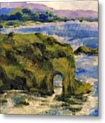 Key Hole Arch Bright Sun Metal Print