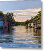 Key Largo Canal Metal Print