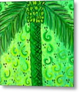 Key Lime Palm Metal Print