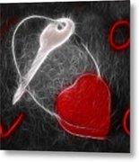 Key To The Heart Metal Print