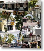 Key West Collage Metal Print