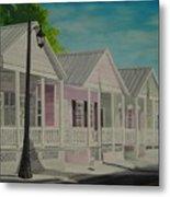 Key West Cottages Metal Print