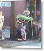 Key West Duval Street Conversation Metal Print