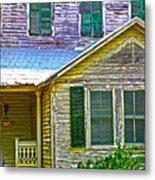 Key West Florida Clapboard Home Metal Print