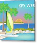 Key West Horizontal Scene Metal Print