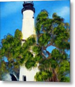 Key West Lighthouse Metal Print