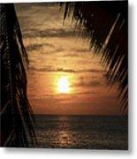 Key West Palm Sunset 2 Metal Print