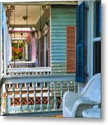 Key West Porches Metal Print