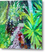 Key West Rooster Metal Print