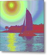 Key West Sun Metal Print