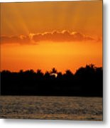 Key West Sunset 25 Metal Print