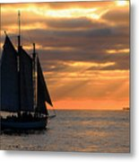 Key West Sunset Sail 6 Metal Print