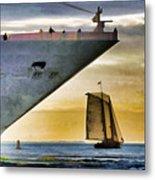 Key West Sunset Sail Metal Print