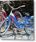 Key West Vintage Bicycles Metal Print