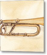 Keyed Trumpet Metal Print