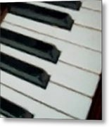 Keys Close Up Metal Print