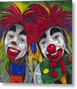 Kid Clowns Metal Print by Patty Vicknair