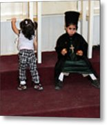 Kids And Religion Metal Print