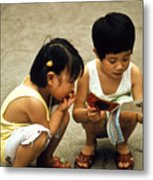 Kids In China 1986 Metal Print