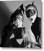 Kids In Halloween Costumes Metal Print