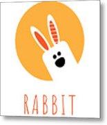 Kids Rabbit Poster Metal Print