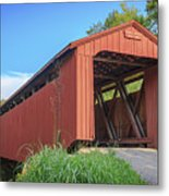 Kidwell Covered Bridge Metal Print
