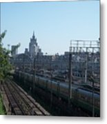 Moscow Kievskaya Train Yard Metal Print