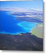 Kiholo Bay, Aerial View Metal Print