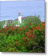 Kilauea Lighthouse Kauai Hawaii Metal Print