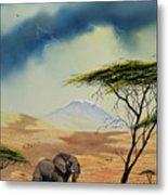 Kilimanjaro Bull Metal Print