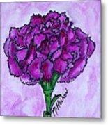 Kimmy's Carnation Metal Print