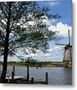 Kinderdijk Windmill Metal Print