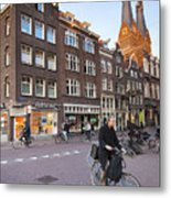 king a Walk in the Streets of Amsterdam Metal Print