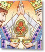 King And Queen Of Clubs Metal Print
