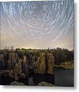 King And Queen Star Trails Metal Print