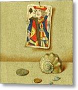 King And Seashell Metal Print
