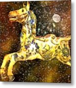 King And The Moon Metal Print