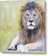 King At Rest Metal Print