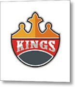 King Crown Kings Retro Metal Print