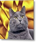 King Kitty With Golden Eyes Metal Print