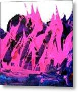 King Kong Attacks Phantom Pink Sail Boat Metal Print