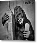 King Kong Selfie B W  Metal Print