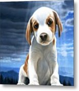 King Of The World-beagle Puppy Metal Print