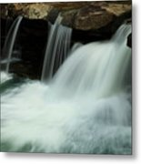 King River Falls In Spring Metal Print by Iris Greenwell