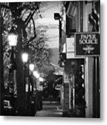 King Street At Night - Old Town Alexandria Metal Print