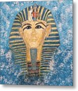 King Tutankhamun Face Mask Metal Print