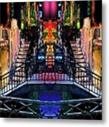 Kingly Venice Reflection Metal Print
