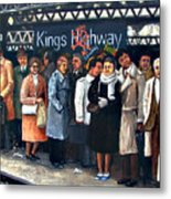 Kings Highway Subway Station Metal Print