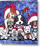 Kiniart Christmas Party Metal Print